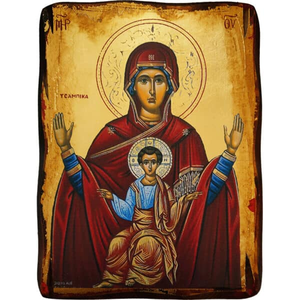 Icon Virgin Mary Tsambika