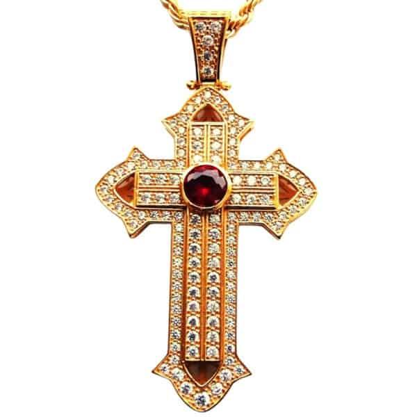 Нательный Крест Серебряный Маленький