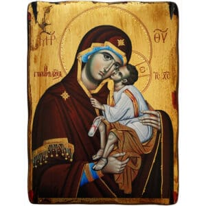 Icon Sweet Kissing Holy Virgin Mary