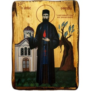 Icon Saint Ephraim of Nea Makri
